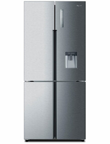 Haier 565L Quad-Door Fridge Freezer, Satina, HRF565YHS product photo