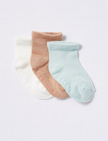 Underworks Eco Friendly Bamboo Mid Crew Socks, 3-Pack product photo