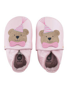 Bobux Soft Sole Party Bear, Blossom Pearl product photo