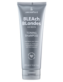 Lee Stafford Bleach Blondes Ice White Toning Shampoo, 250ml product photo