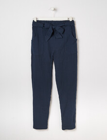 Switch Voile Tie-Waist Pant, Navy product photo