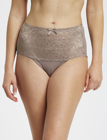 Lyric Microfibre & Lace Top Full Brief, Toffee product photo
