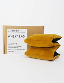 Camden Co Wheat Bag, Mustard Velvet product photo