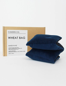 Camden Co Wheat Bag, Navy Velvet product photo