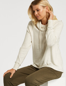 Zest Supersoft Brushed Roll-Neck Top, Ivory product photo