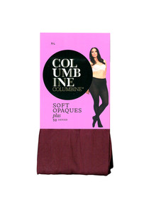 Columbine Plus Size Soft Opaque 50D Tight, Burgundy product photo