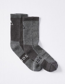 Bonds Explorer Everyday Tough Crew Sock, 2-Pack, Dark Grey Marl product photo