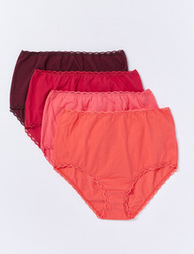 Lyric Full Brief, 4-Pack, Ember product photo