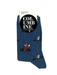 Columbine Skatepark Animals Crew Sock, Denim product photo