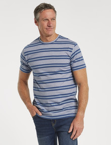 Chisel Ultimate Stripes Crew-Neck Tee, Navy product photo