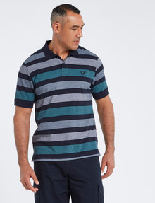 Line 7 Tryell Short-Sleeve Polo, Teal product photo