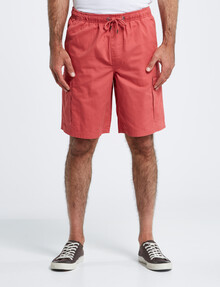 Chisel Elastic Waist Cargo Short, Mineral Red product photo