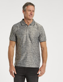 Chisel Quick-Dry Textured Short-Sleeve Polo, Grey product photo