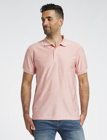 Chisel Quick Dry Short-Sleeve Textured Polo, Pink product photo