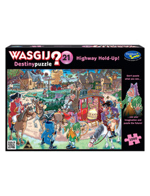 Wasgij Jigsaw Puzzle, Destiny 21 Highway Holdup, 1000 Piece product photo
