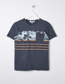 No Issue Short-Sleeve Chest-Panel Print Tee, Ocean product photo