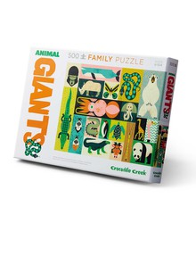 Crocodile Creek Family Puzzle Animal Giants, 500-Piece product photo