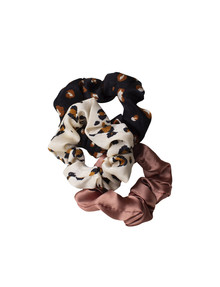 Adorn by Mae Elastics Scrunches, Stay Wild, Set-of-3 product photo