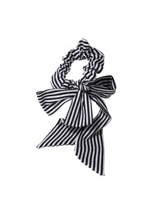 Adorn by Mae Elastics Scrunchie, Black and White Bow product photo