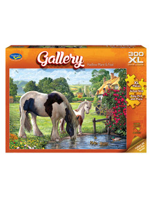 Puzzles Gallery Hadlow Mare & Foal Jigsaw Puzzle, 300-Piece product photo