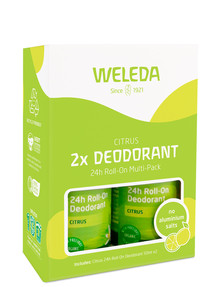 Weleda Citrus Deodorant 24hr Roll-On, 2-Pack product photo