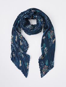 Boston & Bailey Crinkle Floral Scarf, Blue product photo