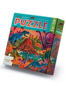 Crocodile Creek Foil Puzzle Dazzling Dinos, 60-Piece product photo