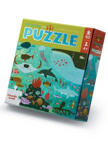 Crocodile Creek Foil Puzzle Shimmering Sea, 60-Piece product photo
