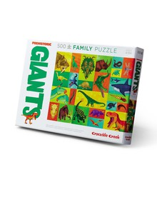 Crocodile Creek Family Puzzle Prehistoric Giants, 500-Piece product photo