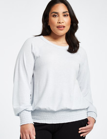 Studio Curve Supersoft Smock Top, Blue Marle product photo