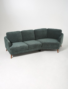 Marcello&Co Zion 3.5 Seater Sofa with Right-Hand Curve, Moss Green product photo