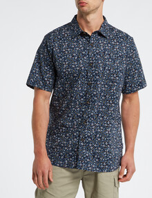 Kauri Trail Cotton Lawn Floral Shirt, Navy product photo