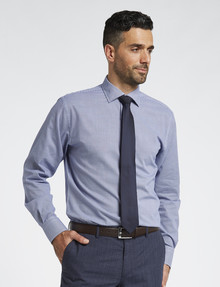 Van Heusen Houndstooth Long-Sleeve Tailored Fit Shirt, Navy product photo