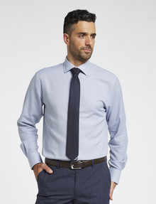 Van Heusen Dobby Check Long-Sleeve Tailored Fit Shirt, Blue product photo