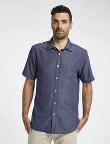 Chisel Short Sleeve Soft Touch Shirt, Stripe Navy product photo
