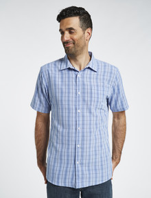 Chisel Short Sleeve Soft Touch Shirt, Stripe Blue product photo