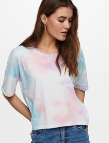 ONLY Zoey Life Tie Dye Short-Sleeve Tee, Mint product photo
