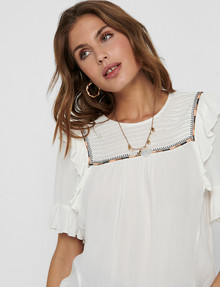 ONLY Mynte Short-Sleeve Top, White product photo
