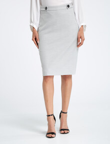 Oliver Black Pencil Skirt, Silver product photo