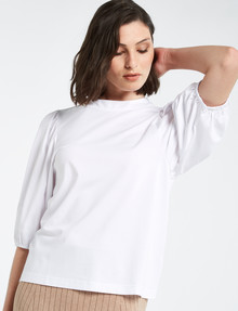 Mineral Bohdi High-Neck Tee, White product photo