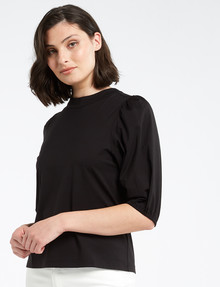 Mineral Bohdi High-Neck Tee, Black product photo