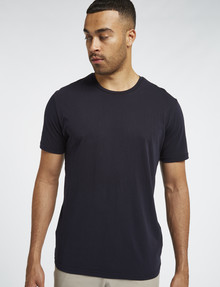 L+L Short-Sleeve Combed Cotton Tee, Navy product photo