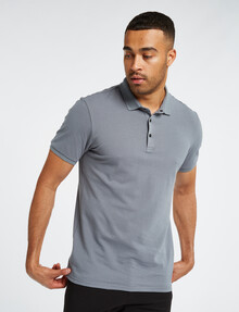 L+L Short-Sleeve Polo, Sage product photo