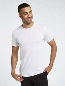 L+L Short-Sleeve Combed Cotton Tee, White product photo
