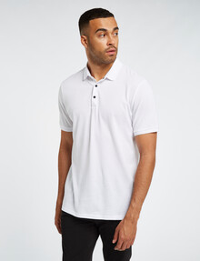 L+L Short-Sleeve Polo, White product photo
