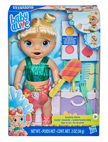 Baby Alive Baby Alive Sunshine Snacks Blonde Hair Baby product photo