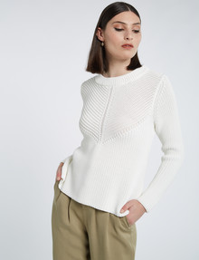 State of play Anya Sweater, White product photo