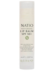 Natio Moisturising Lip Balm, SPF 50+, 4g product photo