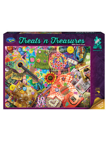 Puzzles Treats 'N Treasures Puzzle, 1960'S Flower Power, 1000-Piece product photo