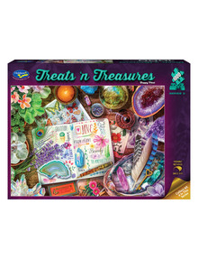 Puzzles Treats 'N Treasures Puzzle, Happy Vibes, 1000-Piece product photo